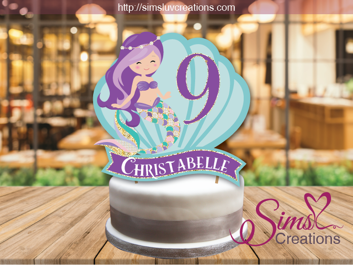 LITTLE MERMAID THEME CAKE TOPPER | CAKE CENTERPIECE | CAKE DECORATIONS