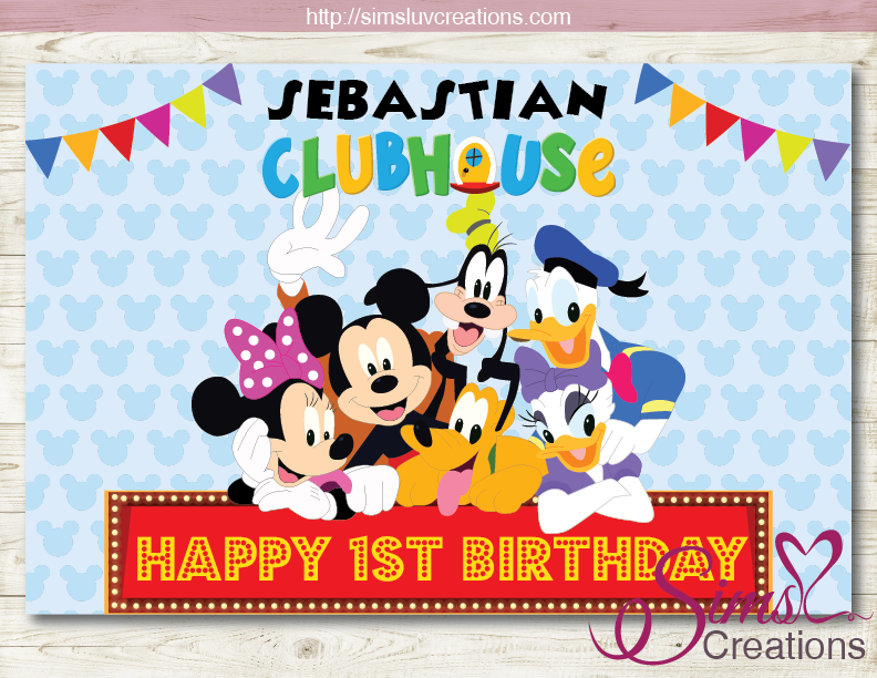 MICKEY MOUSE CLUBHOUSE PRINTABLE BACKDROP BANNER ...