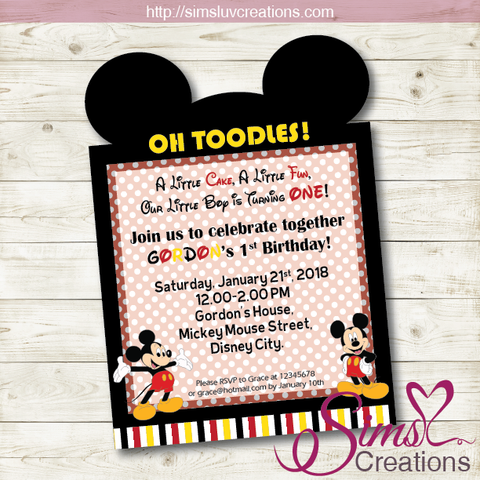 MICKEY MOUSE BIRTHDAY PRINTABLE INVITATION | MICKEY PARTY INVITATION