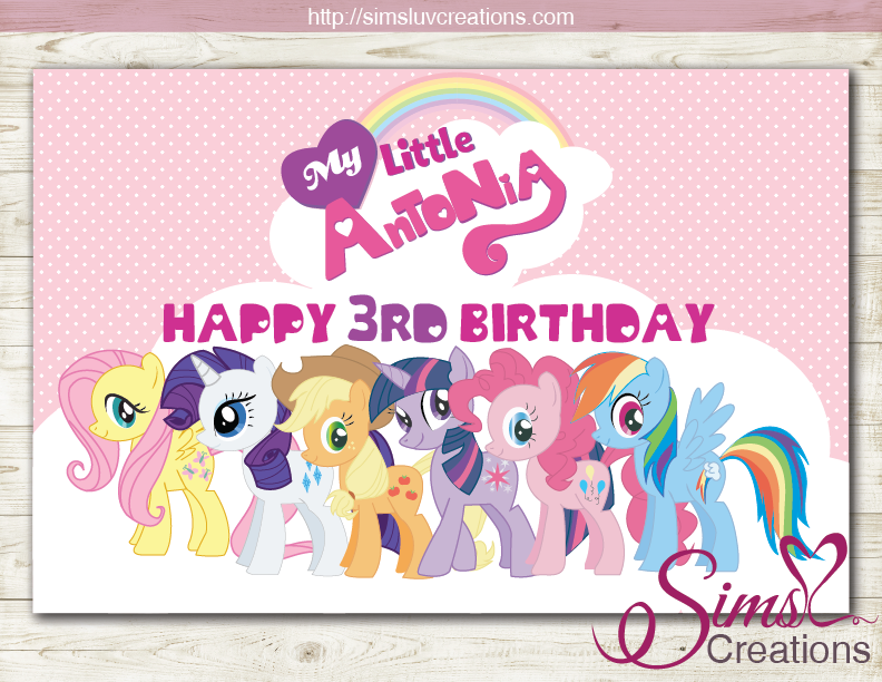 MY LITTLE PONY PARTY BACKDROP BANNER | MAGICAL BIRTHDAY POSTER | CUSTOM PHOTO