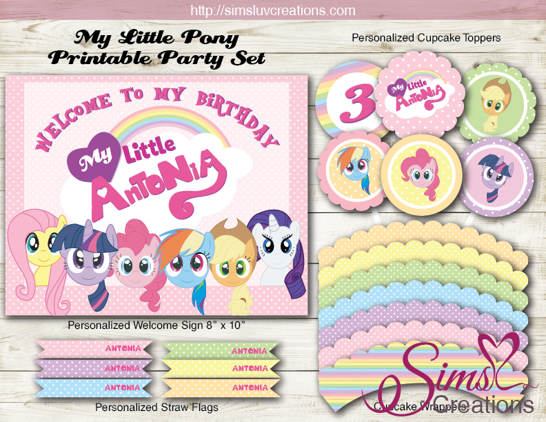MY LITTLE PONY BIRTHDAY DECORATION KIT | PARTY PRINTABLES