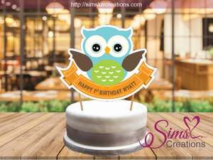 OWL BIRTHDAY CAKE TOPPER | CAKE CENTERPIECE | CAKE DECORATIONS