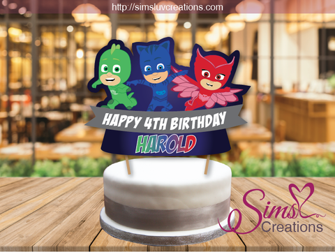 PJ MASKS CAKE TOPPER | CAKE CENTERPIECE | CAKE DECORATIONS