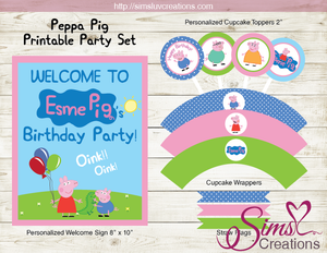 PEPPA PIG PARTY DECORATION KIT | PEPPA PIG PARTY PRINTABLES