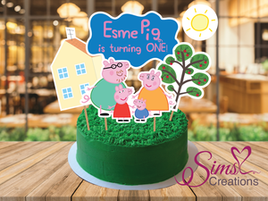 PEPPA PIG  CAKE TOPPER | CAKE CENTERPIECE | CAKE DECORATIONS