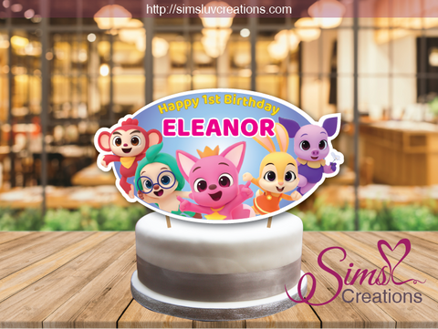 PINKFONG WONDERSTAR CAKE TOPPER | CAKE CENTERPIECE | CAKE DECORATIONS
