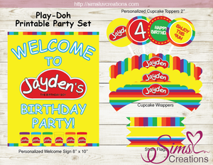 PLAYDOH BIRTHDAY PARTY KIT | PLAY DOH PARTY PRINTABLES