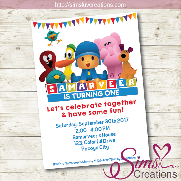 POCOYO BIRTHDAY PRINTABLE INVITATION | POCOYO PARTY INVITATION