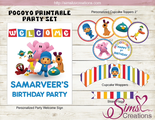 POCOYO PARTY SUPPLIES | PARTY PRINTABLES