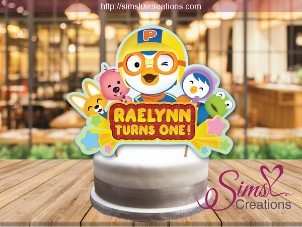 PORORO BIRTHDAY CAKE TOPPER | CAKE CENTERPIECE | CAKE DECORATIONS