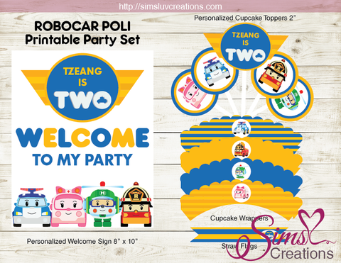 ROBOCAR POLI BIRTHDAY PARTY KIT | PARTY PRINTABLES