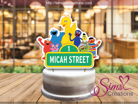SESAME STREET CAKE TOPPER | CAKE CENTERPIECE | CAKE DECORATIONS