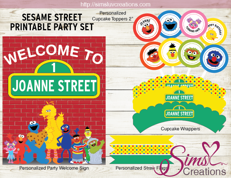 SESAME STREET PARTY PRINTABLE KIT | PARTY DECORATION SUPPLIES