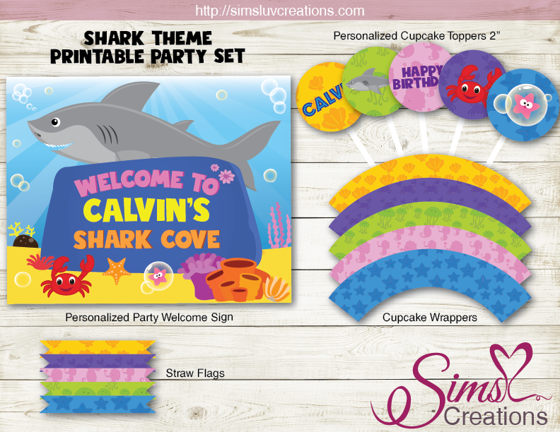 SHARK PARTY SUPPLIES | UNDER THE SEA PARTY PRINTABLES