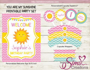 picture regarding You Are My Sunshine Printable named Yourself ARE MY Sunlight BIRTHDAY Celebration Package Solar Female Get together