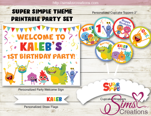 SUPER SIMPLE SONGS BIRTHDAY PARTY DECORATION KIT | PARTY PRINTABLES