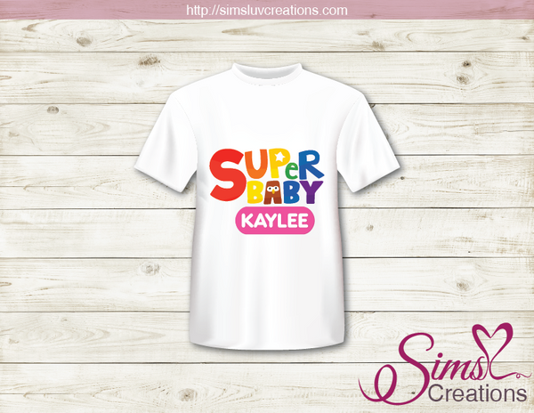 SUPER SIMPLE SONG LOGO T-SHIRT IRON ON TRANSFER | DIGITAL FILE FOR SUPER SIMPLE T-SHIRTS