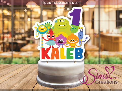 SUPER SIMPLE MONSTERS CAKE TOPPER | CAKE CENTERPIECE | CAKE DECORATIONS