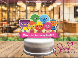 SUPER SIMPLE CHARACTERS BIRTHDAY CAKE TOPPER | NOODLE & PALS CAKE CENTERPIECE | CAKE DECORATIONS