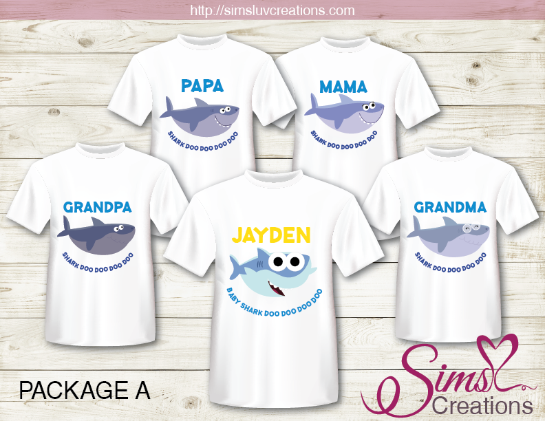 SUPER SIMPLE BABY SHARK T-SHIRT IRON ON TRANSFER | DIGITAL FILE FOR BABY SHARK T-SHIRTS