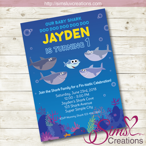 SUPER SIMPLE BABY SHARK BIRTHDAY PRINTABLE INVITATION
