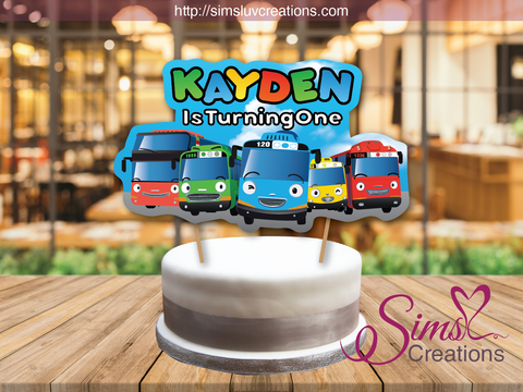 TAYO THE LITTLE BUS CAKE TOPPER | CAKE CENTERPIECE | CAKE DECORATIONS