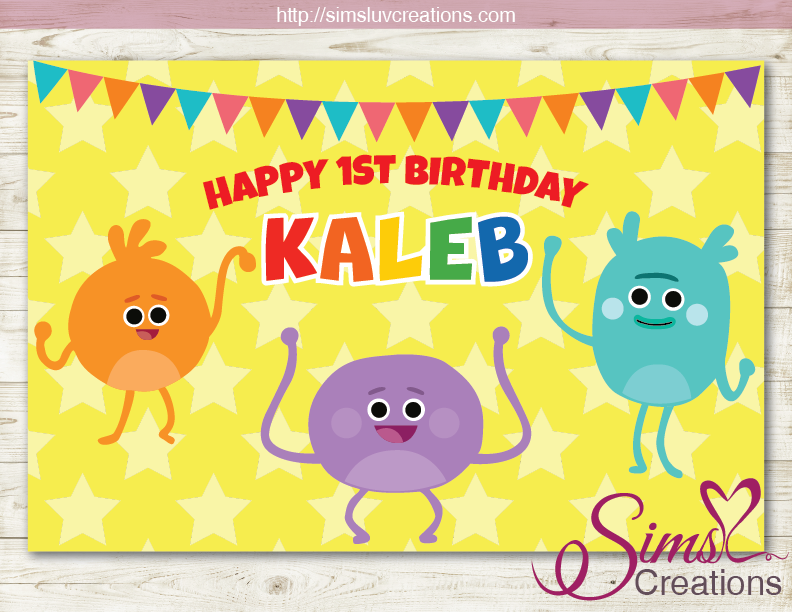 THE BUMBLE NUMS PARTY BACKDROP BANNER | BIRTHDAY BACKDROP | CUSTOM PHOTO