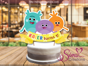 SUPER SIMPLE BUMBLE NUMS CAKE TOPPER | CAKE CENTERPIECE | CAKE DECORATIONS