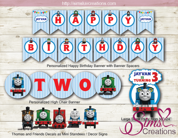THOMAS AND FRIENDS PARTY KIT | CHOO CHOO TRAIN PARTY PRINTABLES