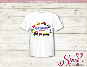 TRANSPORTATION PARTY T-SHIRT IRON ON TRANSFER | DIGITAL FILE FOR TRANSPORTATION THEME T-SHIRTS