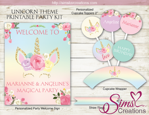 UNICORN PARTY KIT | UNICORN BIRTHDAY PARTY PRINTABLES