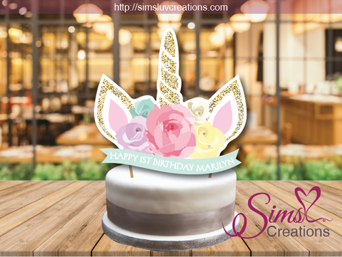 UNICORN MAGICAL BIRTHDAY CAKE TOPPER | CAKE CENTERPIECE | CAKE DECORATIONS