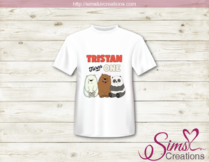 WE BARE BEARS PARTY PRINTABLE T-SHIRT IRON ON TRANSFER | DIGITAL IMAGE FOR BABY PANDA BIRTHDAY T-SHIRTS