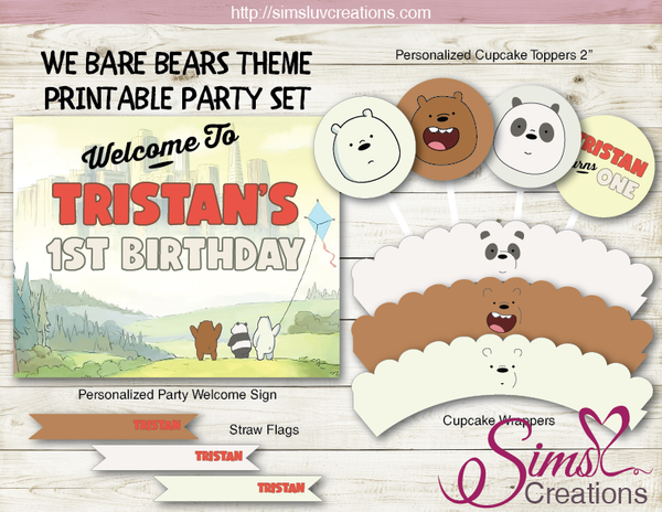 WE BARE BEARS PARTY DECORATION KIT | PARTY PRINTABLES
