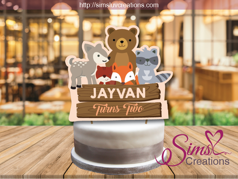 WOODLAND ANIMALS CAKE TOPPER | CAKE CENTERPIECE | CAKE DECORATIONS