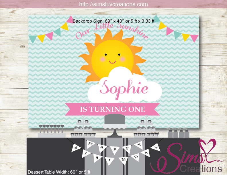 photo relating to You Are My Sunshine Printable called Yourself ARE MY Solar PRINTABLE BACKDROP BANNER Female BIRTHDAY BACKDROP