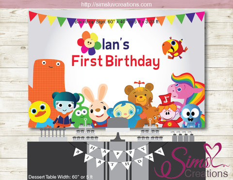BABYFIRST TV PRINTABLE PARTY BACKDROP BANNER | BABY FIRST TV BIRTHDAY POSTER