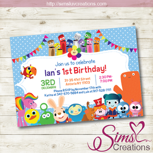 BABYFIRST TV BIRTHDAY PRINTABLE INVITATION | BABYFIRST TV PARTY INVITATION