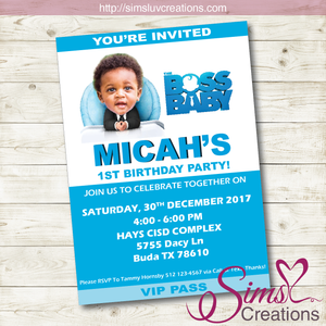 image relating to Boss Baby Printable referred to as Manager Kid BIRTHDAY PRINTABLE INVITATION Manager Child Bash