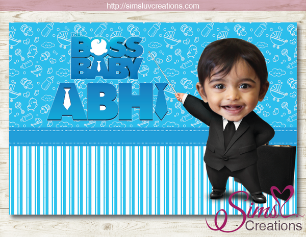 BOSS BABY THEME PARTY BACKDROP BANNER | BIRTHDAY POSTER | BABY PHOTO