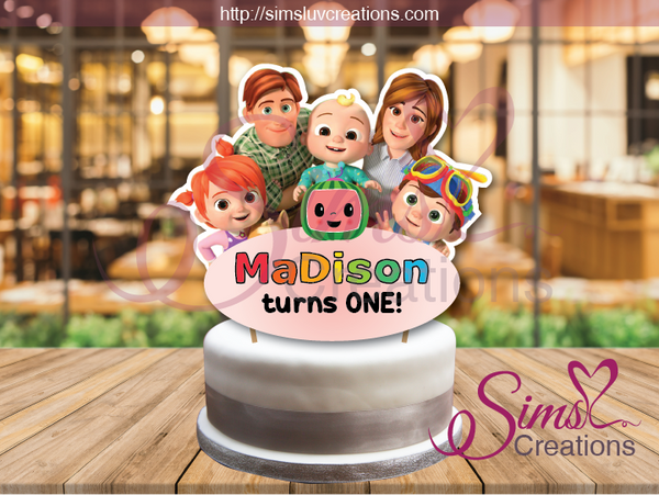 COCOMELON CAKE TOPPER | CAKE CENTERPIECE | CAKE DECORATIONS