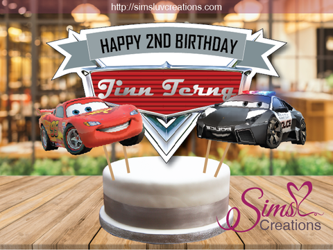 DISNEY CARS CAKE TOPPER | LIGHTNING MCQUEEN CAKE CENTERPIECE | CAKE DECORATIONS