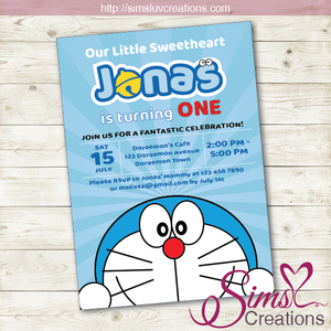 DORAEMON BIRTHDAY PRINTABLE INVITATION | PARTY INVITE