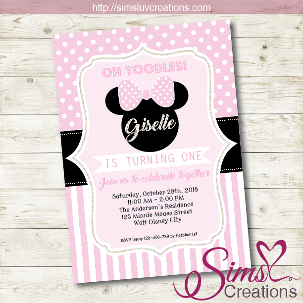 MINNIE MOUSE BIRTHDAY PRINTABLE INVITATION | DISNEY MINNIE PARTY INVITATION
