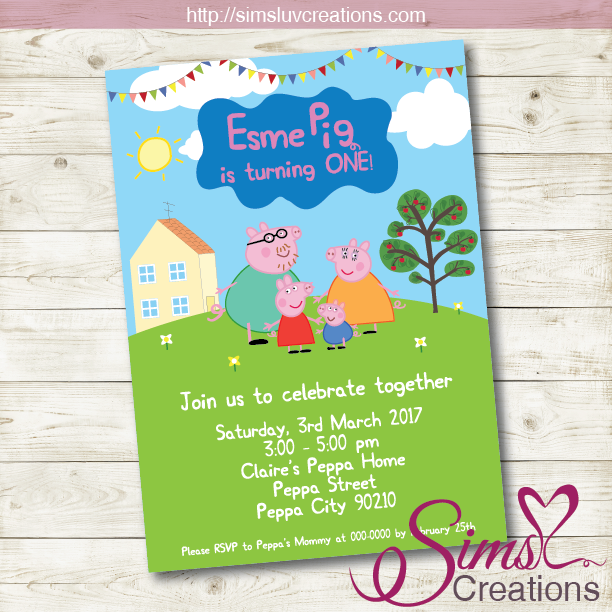 PEPPA PIG BIRTHDAY PRINTABLE INVITATION | PEPPA PIG PARTY INVITATION