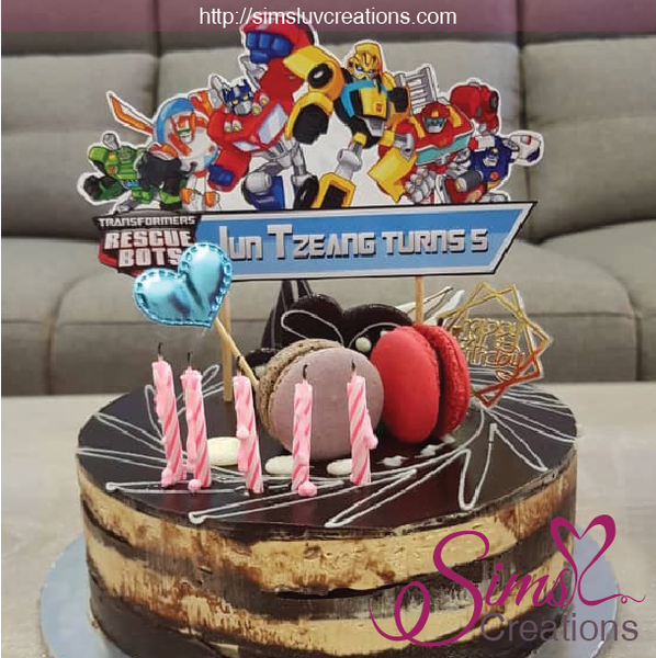 TRANSFORMERS RESCUE BOTS CAKE TOPPER | CAKE CENTERPIECE | CAKE DECORATIONS