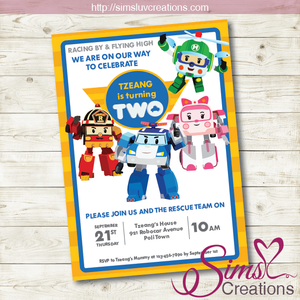 ROBOCAR POLI BIRTHDAY PRINTABLE INVITATION | ROBOCAR POLI PARTY INVITATION
