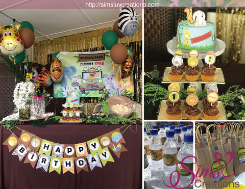 SAFARI ANIMALS PARTY PRINTABLE KIT | JUNGLE PARTY PRINTABLES