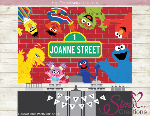SESAME STREET PRINTABLE BACKDROP BANNER | BIRTHDAY POSTER