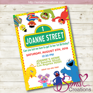 SESAME STREET BIRTHDAY PRINTABLE INVITATION | SESAME STREET PARTY INVITATION
